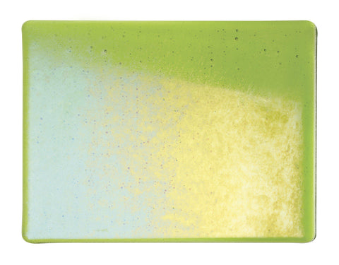 Spring Green Transparent Irid (1426-31) Full Sheet Glass-The Glass Underground