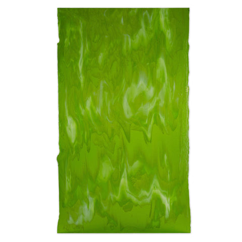 Spring Green, White Streaky (80102A) 3mm-1/2 Sheet-The Glass Underground