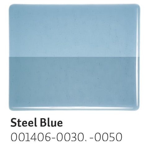 Steel Blue Transparent (1406) 2mm-1/2 Sheet-The Glass Underground