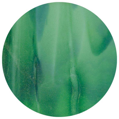 Streaky Glass Circles  - Mint Opal, Deep Forest Green Streaky (2112)