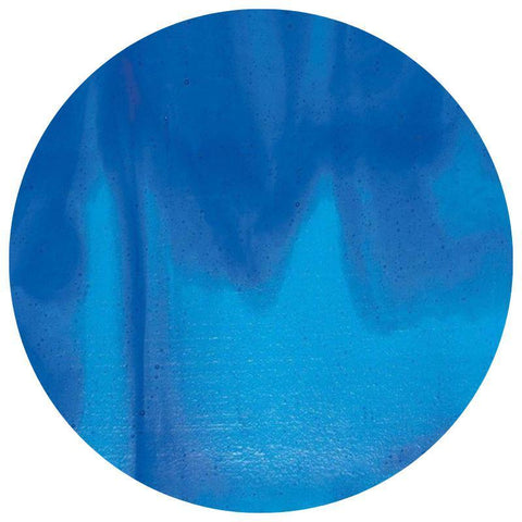 Streaky Glass Circles - Turquoise Blue, Deep Royal Blue Streaky (2116)