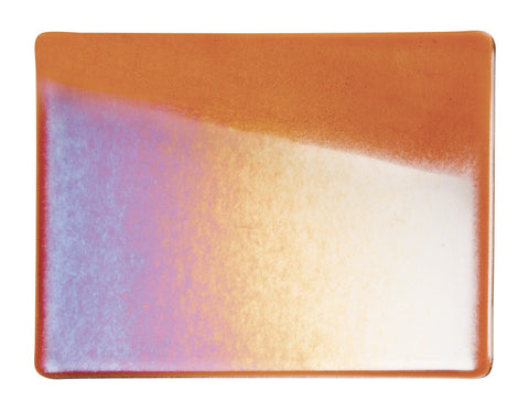 Sunset Coral Irid (1305-31) Full Sheet Glass-The Glass Underground