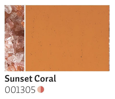 Sunset Coral Transparent Frit (1305)-5 lbs.-Coarse-The Glass Underground