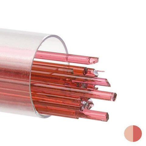 Sunset Coral Transparent Stringers (1305)-2mm-Tube-The Glass Underground