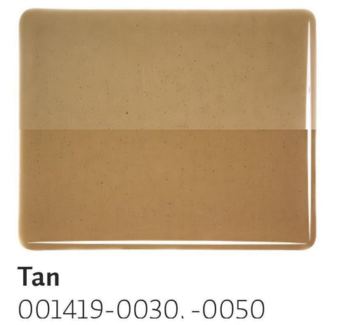 Tan Transparent (1419) 2mm-1/2 Sheet-The Glass Underground