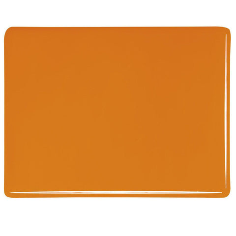 Tangerine Orange Opal (025) 3mm-1/2 Sheet-The Glass Underground