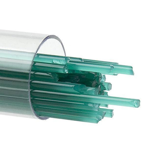 Teal Green Opal Stringers (144)-2mm-Tube-The Glass Underground