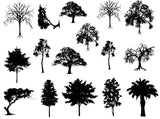 Trees Decals-Black-The Glass Underground