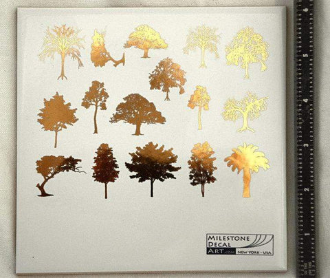 Trees Decals-Gold-The Glass Underground