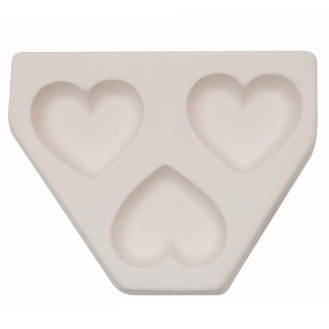 Triple Hearts Casting Mold-The Glass Underground