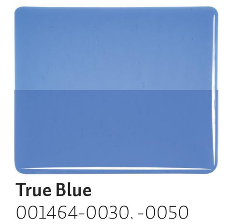 True Blue Transparent (1464) 2mm-1/2 Sheet-The Glass Underground