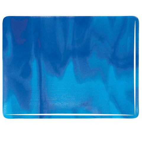 Turquoise Blue, Deep Royal Blue Streaky (2116) Full Sheet Glass-The Glass Underground