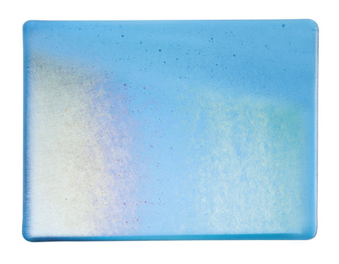 Turquoise Blue Irid (1116-31) 3mm-1/2 Sheet-The Glass Underground