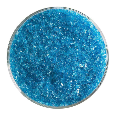 Turquoise Blue Transparent Frit (1116)-5 lbs.-Medium-The Glass Underground