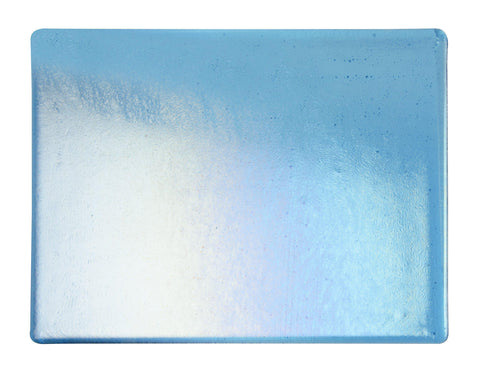 Turquoise Blue Transparent Irid (1116) 2mm-1/2 Sheet-The Glass Underground