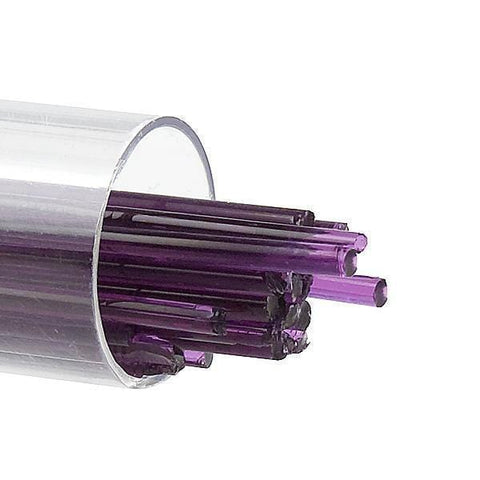 Violet Transparent Stringers (1234)-2mm-Tube-The Glass Underground