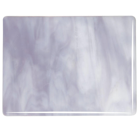 White, Lavender Blue Opal Streaky (2304) 3mm-1/2 Sheet-The Glass Underground