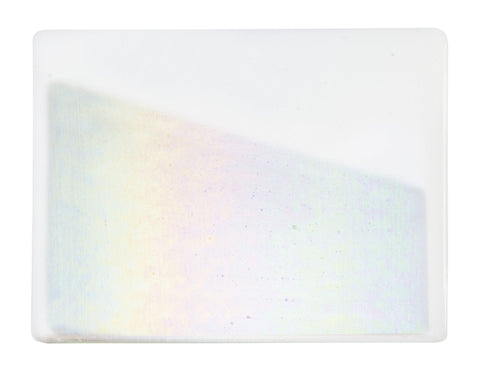 White Opal Irid (113-31) Full Sheet Glass-The Glass Underground