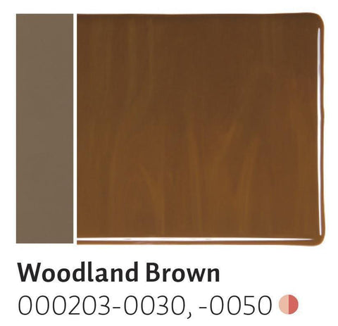 Woodland Brown Opal (203) 2mm-1/2 Sheet-The Glass Underground