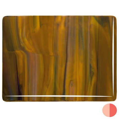 Woodland Brown Opal, Ivory, Black Streaky (3203) 3mm-1/2 Sheet-The Glass Underground