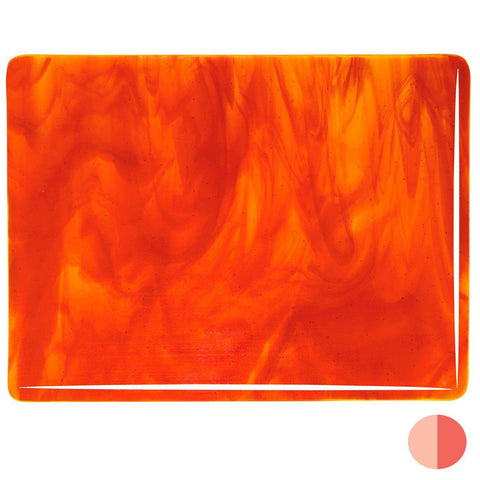 Yellow, Red Striker Streaky (2125) 3mm-1/2 Sheet-The Glass Underground