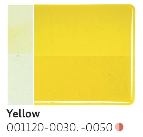 Yellow Transparent (1120) 2mm-1/2 Sheet-The Glass Underground