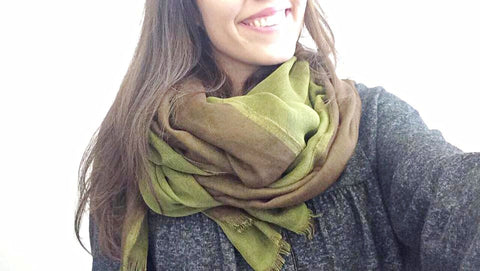 Green & Brown Scarf by Eldimaa Fashion - Eldimaa Fashion