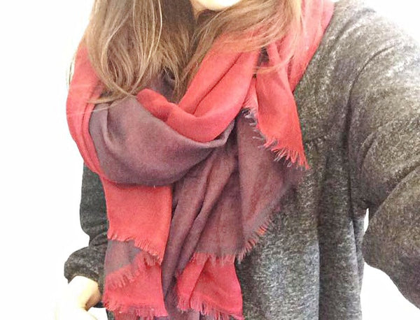 Red & Black Scarf by Eldimaa Fashion - Eldimaa Fashion