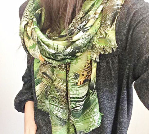 Jungle Print Scarf by Eldimaa Fashion - Eldimaa Fashion