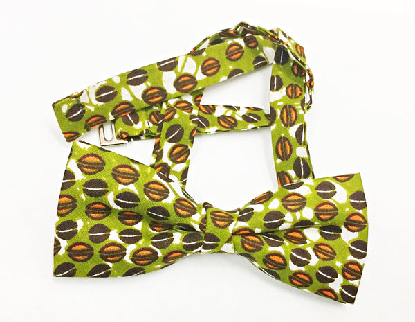 African Print Bow Tie in Green by Eldimaa - Eldimaa Fashion