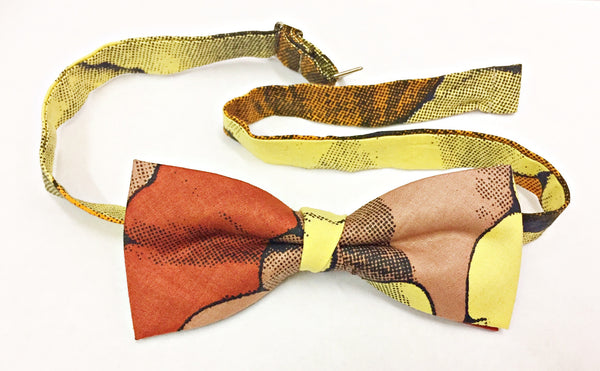 African Print Bow Tie in Orange by Eldimaa - Eldimaa Fashion
