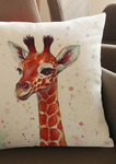 Part of our beautiful African homeware range, our African inspired giraffe cushion is a beautiful addition to your home. The white cushion with giraffe graphic is the ideal sofa cushion or chair cushion.