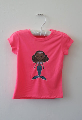 Pink T-Shirt for Girls with Mermaid by Eldimaa Fashion - Eldimaa Fashion