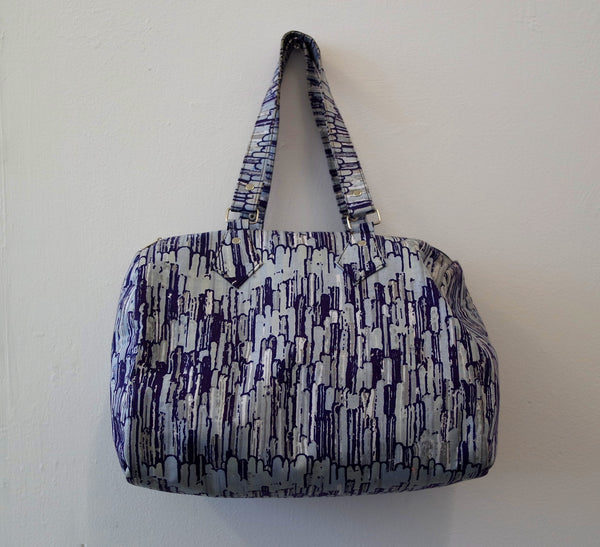Purple Ankara Handbag by Eldimaa Fashion - Eldimaa Fashion