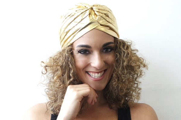 Gold Turban for Women - Eldimaa Fashion