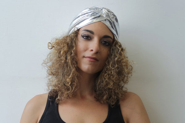 Silver Turban for Women - Eldimaa Fashion