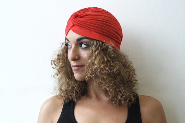 Red Turban for Women - Eldimaa Fashion