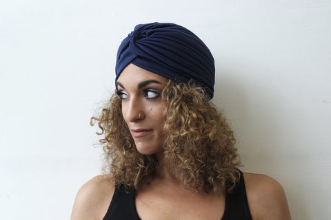 Navy Turban for Women - Eldimaa Fashion