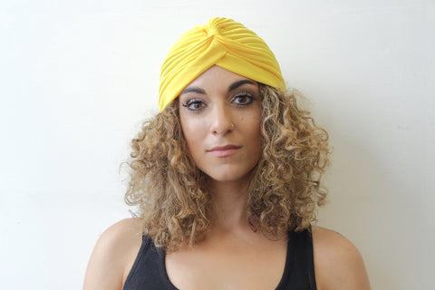 Yellow Turban for Women - Eldimaa Fashion
