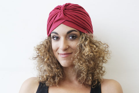 Burgundy Turban for Women - Eldimaa Fashion