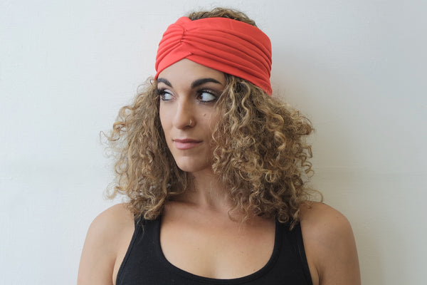 Red Half Turban for Women - Eldimaa Fashion