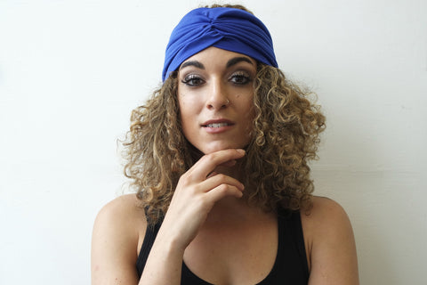 Blue Half Turban for Women - Eldimaa Fashion