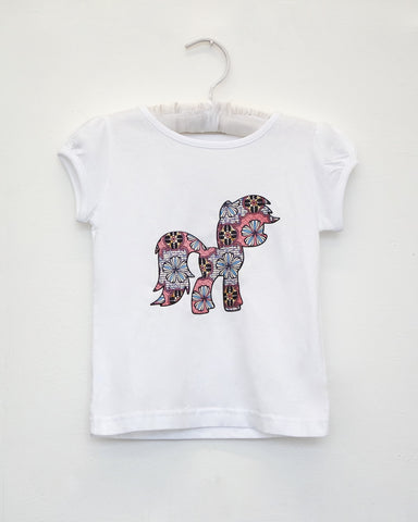 African Print Poney T-Shirt for Girls by Eldimaa Fashion - Eldimaa Fashion