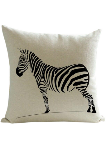 Part of our African homeware range, our zebra decorative cushion is a beautiful addition to your home. The white cushion with a zebra graphic is the perfects sofa cushion and chair cushion.