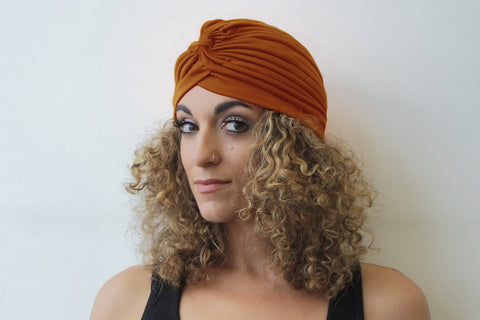 Burnt Orange Turban for Women - Eldimaa Fashion