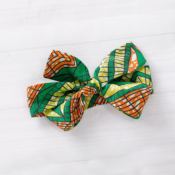 Green African Print Ankara Skirt and Headband Set for Baby Girls - Eldimaa Fashion
