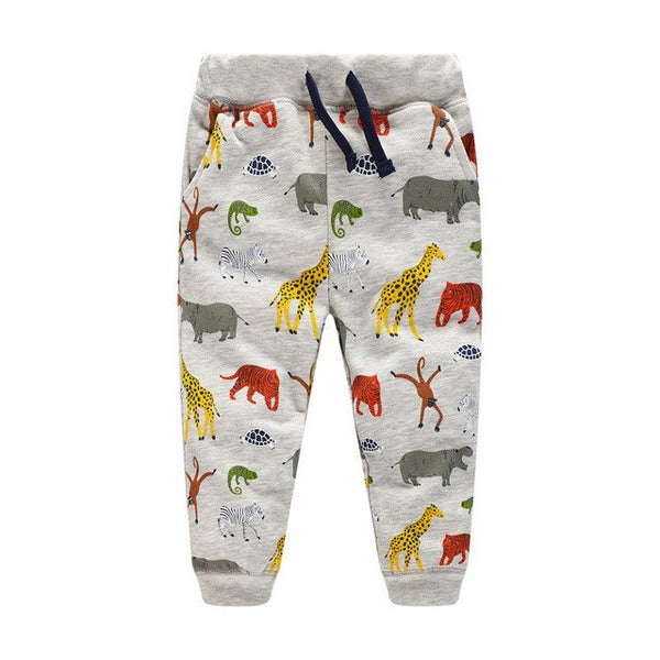 Gender Neutral African Animals Kids Track Bottom Pants - Eldimaa Fashion