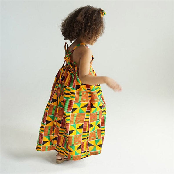 African Print Ankara Kente Dress for Baby and Girls - Eldimaa Fashion