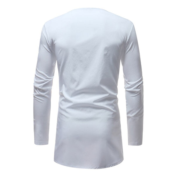 Embroidery Long Sleeve African Men's Shirt - Eldimaa Fashion