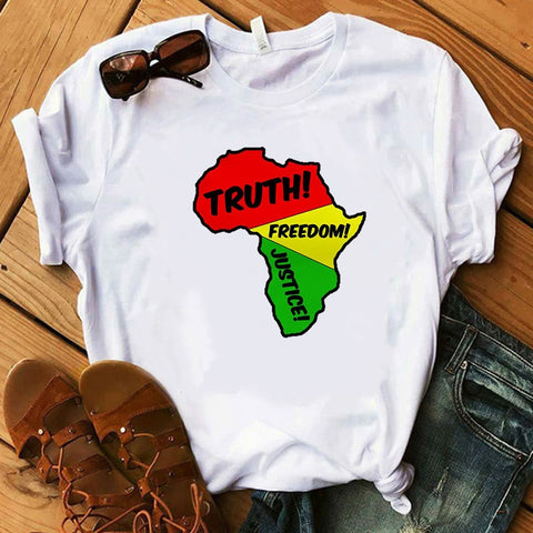 Map of Africa T shirt - Eldimaa Fashion